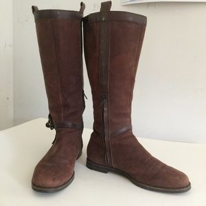 Cole Haan Suede and Leather Boots, SZ 7.5  GC
